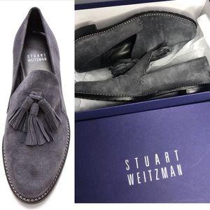 Stuart Weitzman Gray Suede Guido Tassle Shoes 6.5